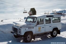 Land Rover Defender 110 TD4 auf der Seiser Alm