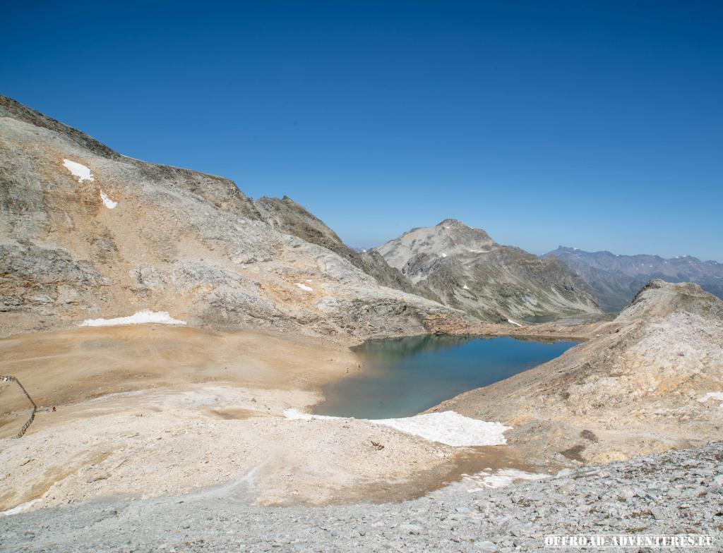 Der See am Colle del Sommeiller